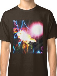 Spiral Flower with Intense Glow  Classic T-Shirt