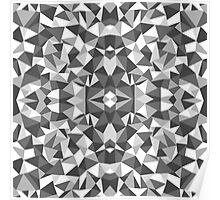 Abstract Colide Black and White Poster