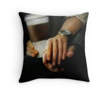 coffee and comfort Throw Pillow
