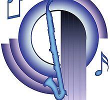 Deco Alto Clarinet (Cool Colors) by zenguin