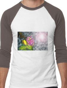 Purple Passion in Storm Clouds Men's Baseball ¾ T-Shirt