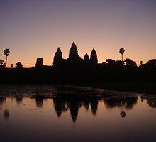 Angkor Wat at Sunrise by oliverjridgill