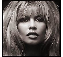Brigitte Bardot's face up close poster Photographic Print