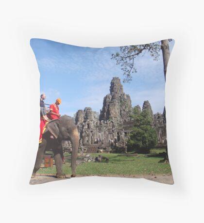 Bayon Temple, Cambodia Throw Pillow
