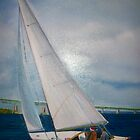 Sailing By Newport Bridge by Ava McNamee
