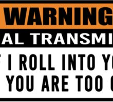 Warning - manual transmission  Sticker