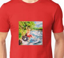 First Jump: Acrylic palette knife painting Unisex T-Shirt