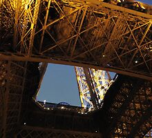 Eiffel Tower view from below by Laura Sanders