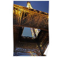 Eiffel Tower view from below Poster