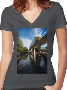 Just Passing By Women's Fitted V-Neck T-Shirt