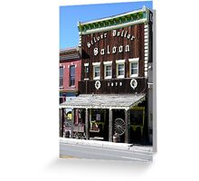 Silver Dollar Saloon, Leadville, Colorado Greeting Card