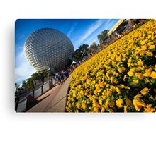 EPCOT Flower Bed Canvas Print