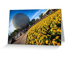 EPCOT Flower Bed Greeting Card