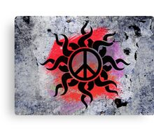 Cool Peace Sign with Paint - T Shirts Art Prints and Stickers Canvas Print