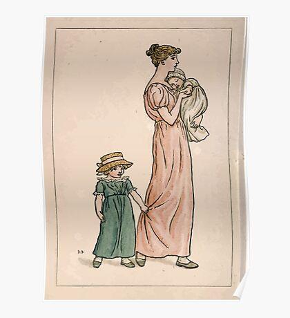 Kate Greenaway Almanack 1893 0022 June Mother and Children Poster