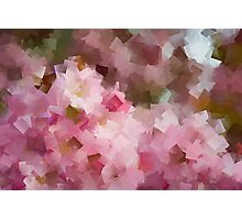Floral geometric abstract Photographic Print