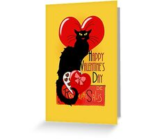 Le Chat Noir Valentine   Greeting Card