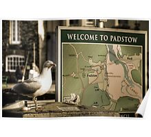Welcome to padstow Poster