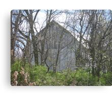 The Old Barn Sits Empty Canvas Print