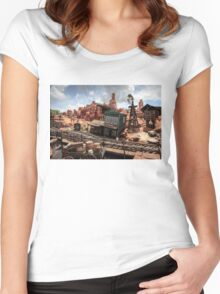 The Wild West Scene Women's Fitted Scoop T-Shirt