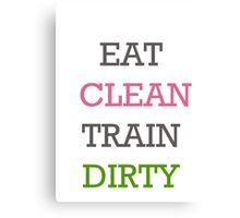 Eat Clean Canvas Print