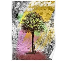Grunge Palm Tree T-Shirt - Art Prints - Stickers Notebooks Poster
