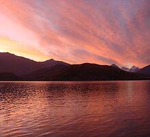 Glendhu Wetland Wildlife Reserve Sunset Landscape by oliverjridgill