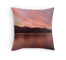Glendhu Wetland Wildlife Reserve Sunset Landscape Throw Pillow