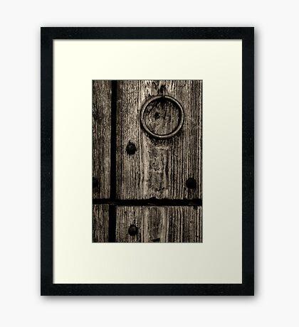 Knock, Knock Framed Print