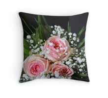 Bridal flowers Throw Pillow