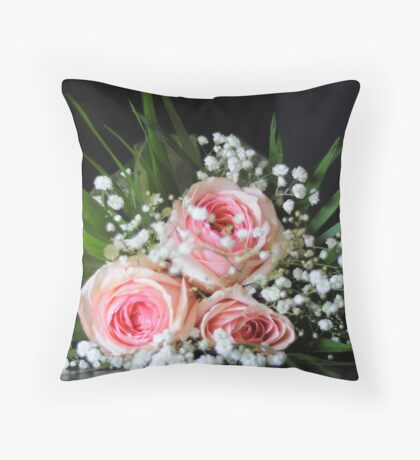 Bridal flowers Throw Pillow