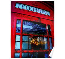 Telephone Box Sunset Poster