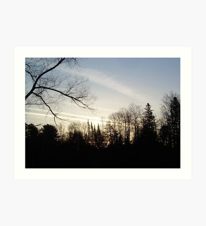 Streaks of Clouds in the dawn sky Art Print