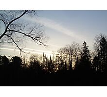 Streaks of Clouds in the dawn sky Photographic Print