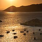 Harbor in Sunset (Greece) by Yannis Larios