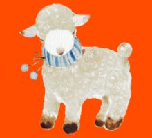 Little lamb with her blue stripe scarf Kids Clothes