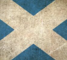 Old and Worn Distressed Vintage Flag of Scotland Sticker