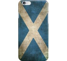 Old and Worn Distressed Vintage Flag of Scotland iPhone Case/Skin