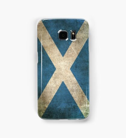 Old and Worn Distressed Vintage Flag of Scotland Samsung Galaxy Case/Skin
