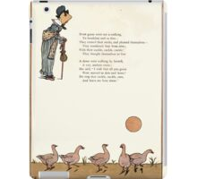 Under the Window Pictures and Rhymes for Children Edmund Evans and Kate Greenaway 1878 0034 Geese iPad Case/Skin
