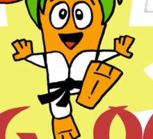 Carrotty Kid: Veg Out Sticker