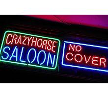 Crazy Horse Saloon Photographic Print