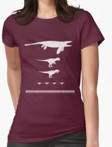 Jurassic World Food Chain light Womens Fitted T-Shirt