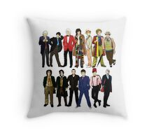 Doctor Who - Alternate Costumes 13 Doctors Throw Pillow