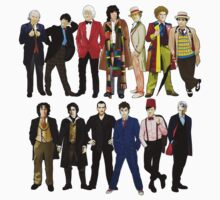 Doctor Who - Alternate Costumes 13 Doctors Baby Tee
