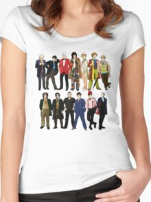 Doctor Who - Alternate Costumes 13 Doctors Women's Fitted Scoop T-Shirt