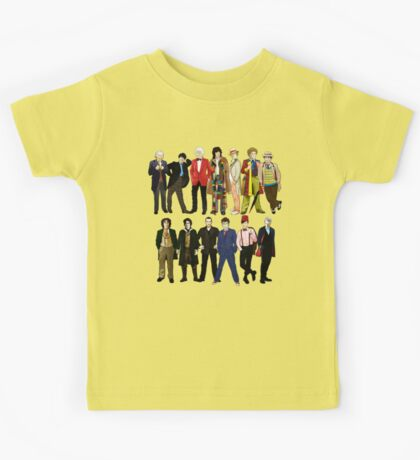 Doctor Who - Alternate Costumes 13 Doctors Kids Tee
