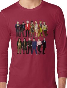 Doctor Who - Alternate Costumes 13 Doctors Long Sleeve T-Shirt