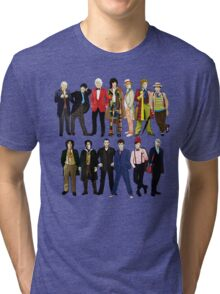 Doctor Who - Alternate Costumes 13 Doctors Tri-blend T-Shirt