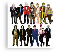 Doctor Who - Alternate Costumes 13 Doctors Canvas Print